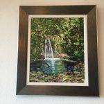 11. Wasserfall 2016 53x64 Öl