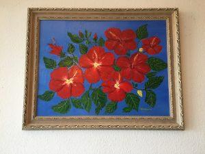 14. Hibiskus 1997 78x58 Acryl