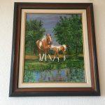 19. Pferd und Fohlen 2000 45x54 Acryl