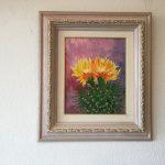 23. Kaktusblüte 1999 33x40 Öl