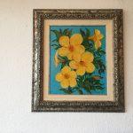 29. Gelbe Blumen 1999 37x45 Öl