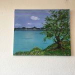 30. Baum am See 1999 65x54 Acryl