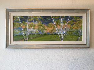 41. Birkenwald 2007 80x30 Acryl