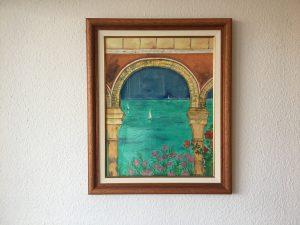 42.Säulen 1999 49x63 Aquarell