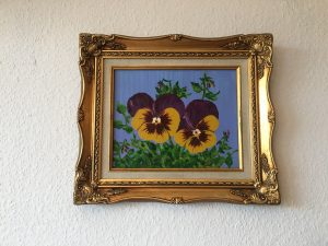 46. Stiefmütterchen 1999 29x23 Öl