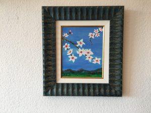 56. Mandelblüte 2004 21x26 Acryl