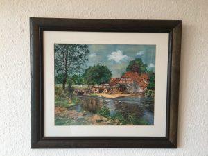 60. Wassermühle 41x33 Aquarell