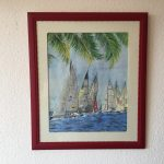 63. Regatta Sloop 2001 39x49 Aquarell