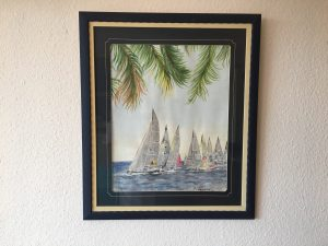 68. Regatta 2001 39x49 Aquarell