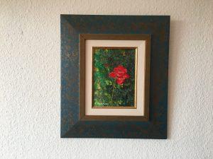 79. Rote Rose 2007 15x21 Acryl