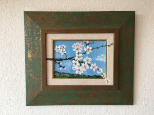 93. Mandelblüte 2004 21x15 Acryl