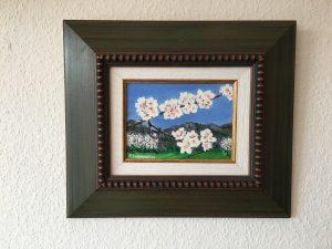 94. Mandelblüte Berge 2004 21x15 Acryl
